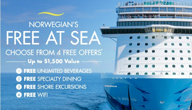 Breaking Down Norwegians Free At Sea Offers Vacationing Dad - Free wifi on cruise ships